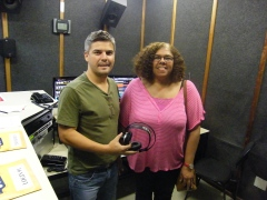 Meeting DJ at 91.5 FM, University radio station and saying hi to all in Campo Grande