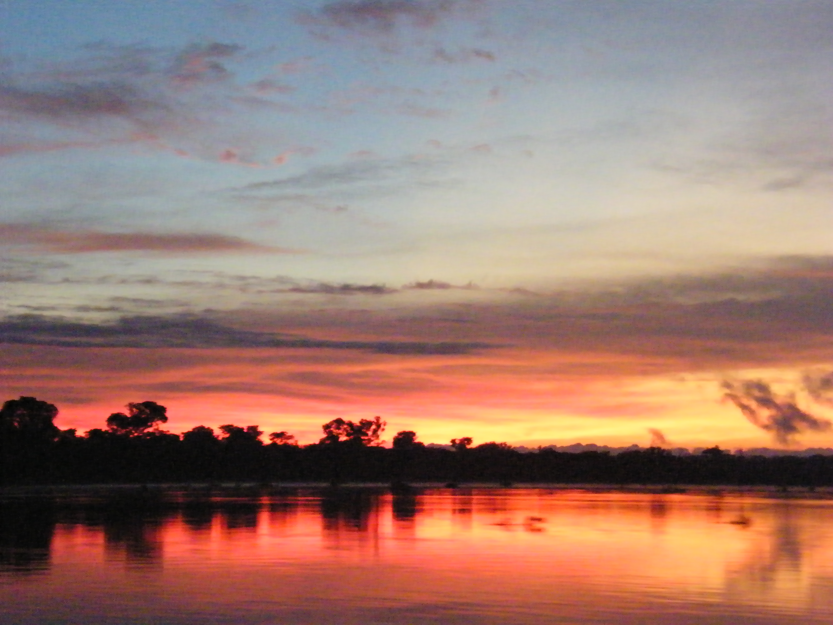 Sunrise on the Paraguay River